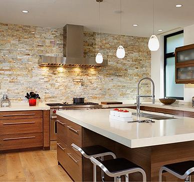 Stylish Stone wall tiles & Latest Kitchen Tiles Design Ideas for Modular Kitchen Floor Wall