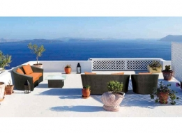 Outdoor Sofa with cushion by Loom Crafts Furniture