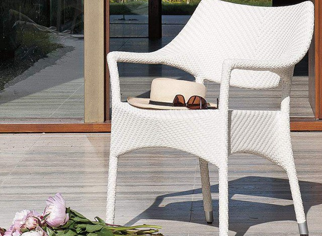 Outdoor garden arm chair by Loom Crafts Furniture