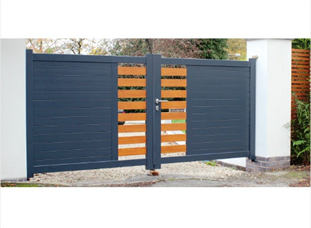 Aluminium Main Gate Surface Finishes by LinkCare Gate Automation