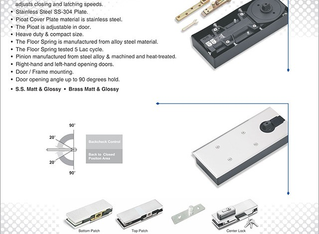 Hydraulic Door Closer regular KDC-100 By Chanakya Engineering