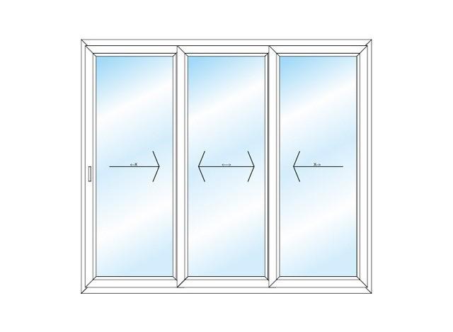 UPVC 3 Track Sliding Door by Akshar Alumminium & Furniture