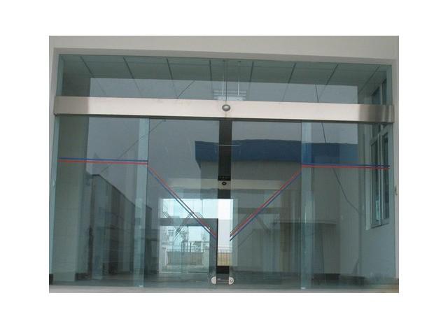 Automatic Sliding Glass Door by Akshar Alumminium & Furniture