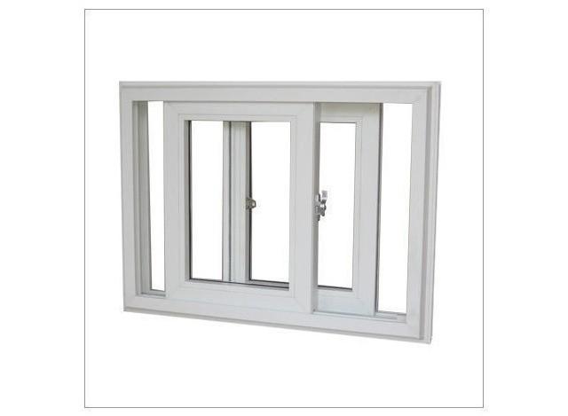 UPVC 3 Track Sliding Windows by Akshar Aluminium & Furniture