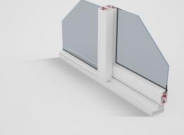 Sliding Window uPVC Profile - One Track by Okotech uPVC Profiles