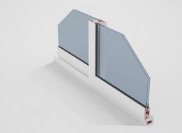 Sliding Door uPVC Profile - 2 track by Okotech uPVC Profiles