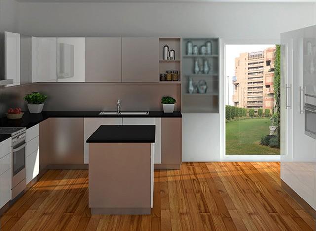 U-Shape Kitchen by arttd'inox