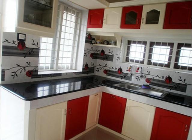 L Shaped Modular Kitchen by Sharon Furniture World