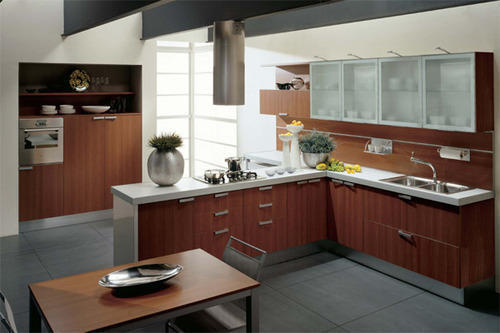 Wooden Modular Kitchen by Zameenbazaar Private Limited