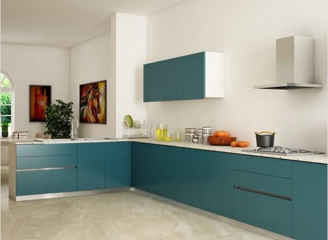 L-Shaped Kitchen by Mosaic Kitchen