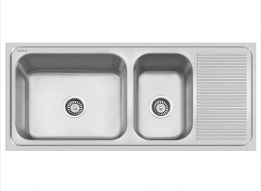 Stainless steel kitchen sink price list models sizes online in india jumbo stainless steel double bowl sink kitchen by cera workwithnaturefo
