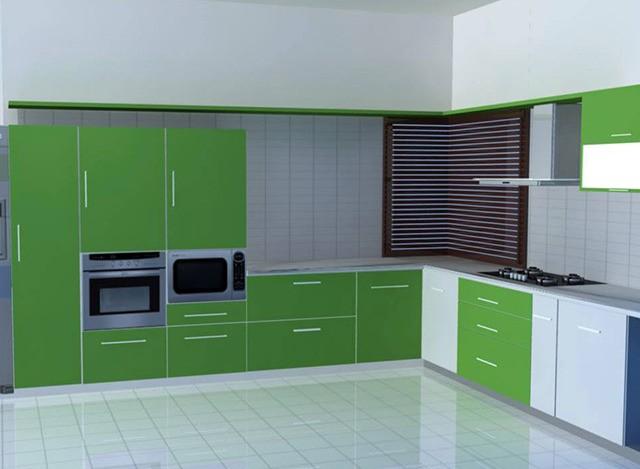 L Shaped Kitchen by Ziffon India