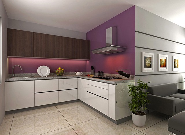 L Shaped Kitchen by Uniwood