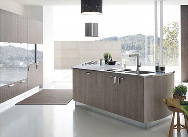 Modular Wooden Island Kitchen by Ag's Bath N Kitchen