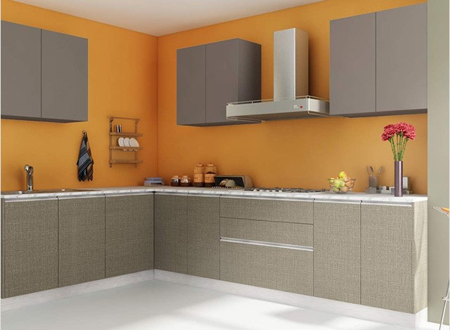 L Shaped Modular Kitchen Designs And Price For Small Indian Homes
