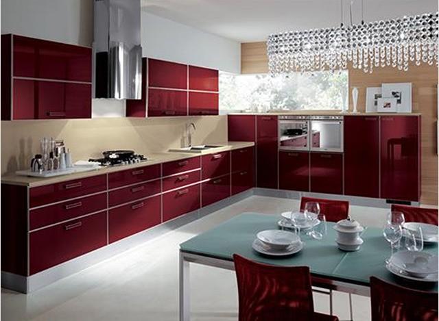 Mosaic kitchen kitchen and straight modular kitchen for Italian modular kitchen
