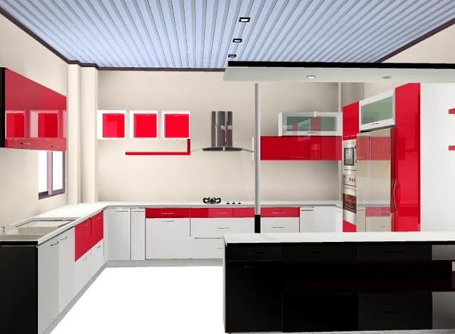 U Shaped Kitchen by Ziffon India