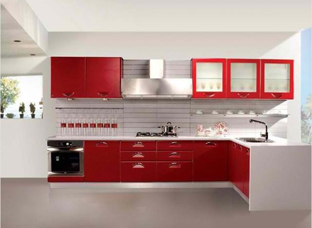 L Shape Modular Kitchens by LISPO