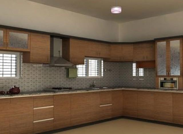 Enriched L Shaped Modular Kitchen by Jap Enterprises