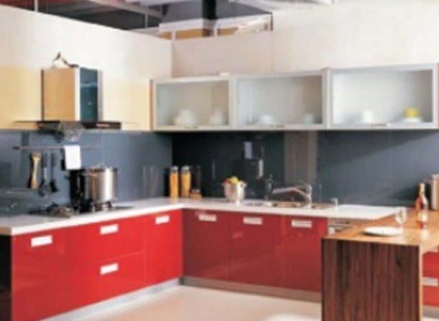 L Shaped Modular Kitchen by Gr Furnishing