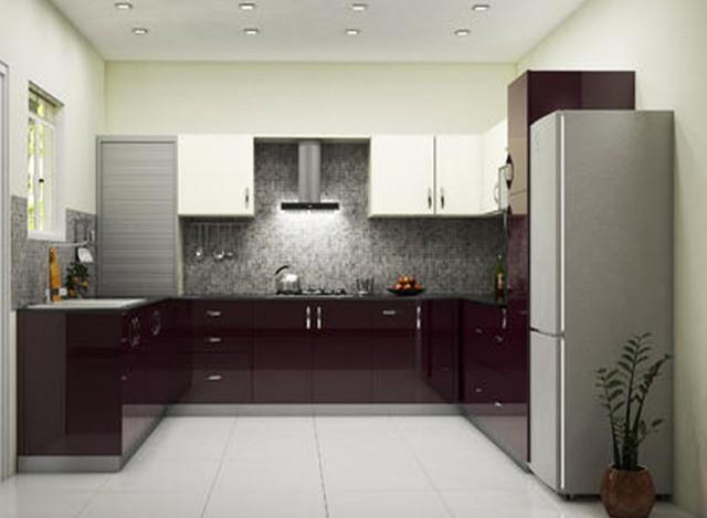 U Shaped Modular Kitchen by Shreeji Modular Furniture