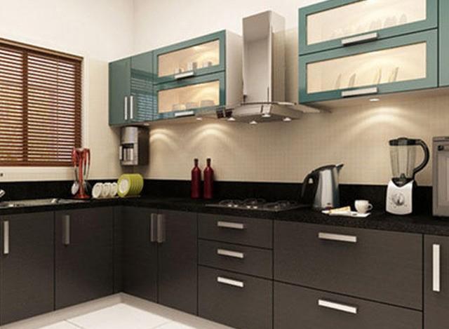 L Shaped Modular Kitchen by Shreeji Modular Furniture