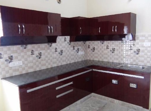 L Shaped Modular Kitchen by Ameya Flooring And Living Spaces Private Limited