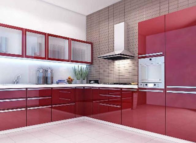 Nice Wood Kitchen Cabinets by Shreeji Modular Furniture