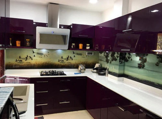 U Shaped Modular Kitchen by Magnific Builders & Interiors