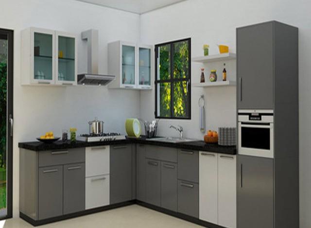 MDF L Shaped Modular Kitchen by Jap Enterprises