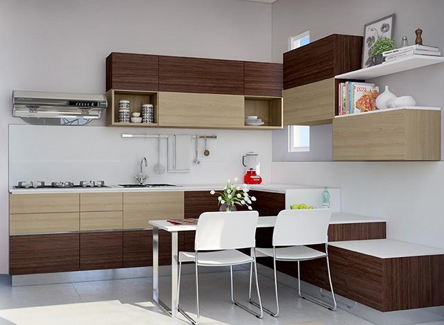 Alessandra L Shaped Modular Kitchen by Kutchina
