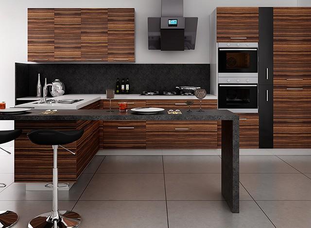 Rebecca L Shaped Modular Kitchen by Kutchina
