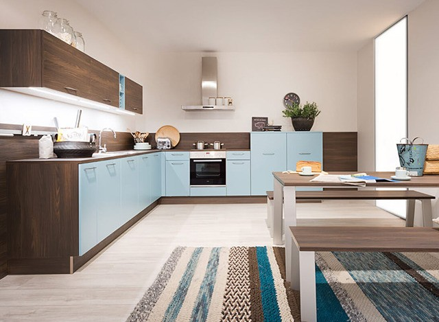 L Shaped Modular Kitchen by Nolte