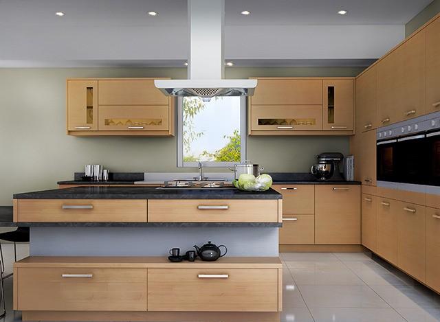 Isabella Island Modular Kitchen by Kutchina