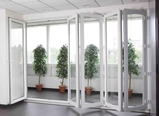 uPVC Sliding Folding Door by Royal Glass and Aluminium