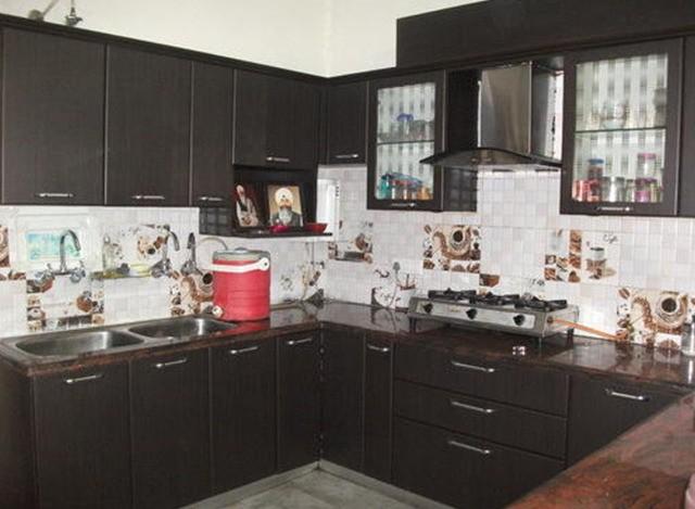 U- Shape Modular Kitchen by Woodco Interiors