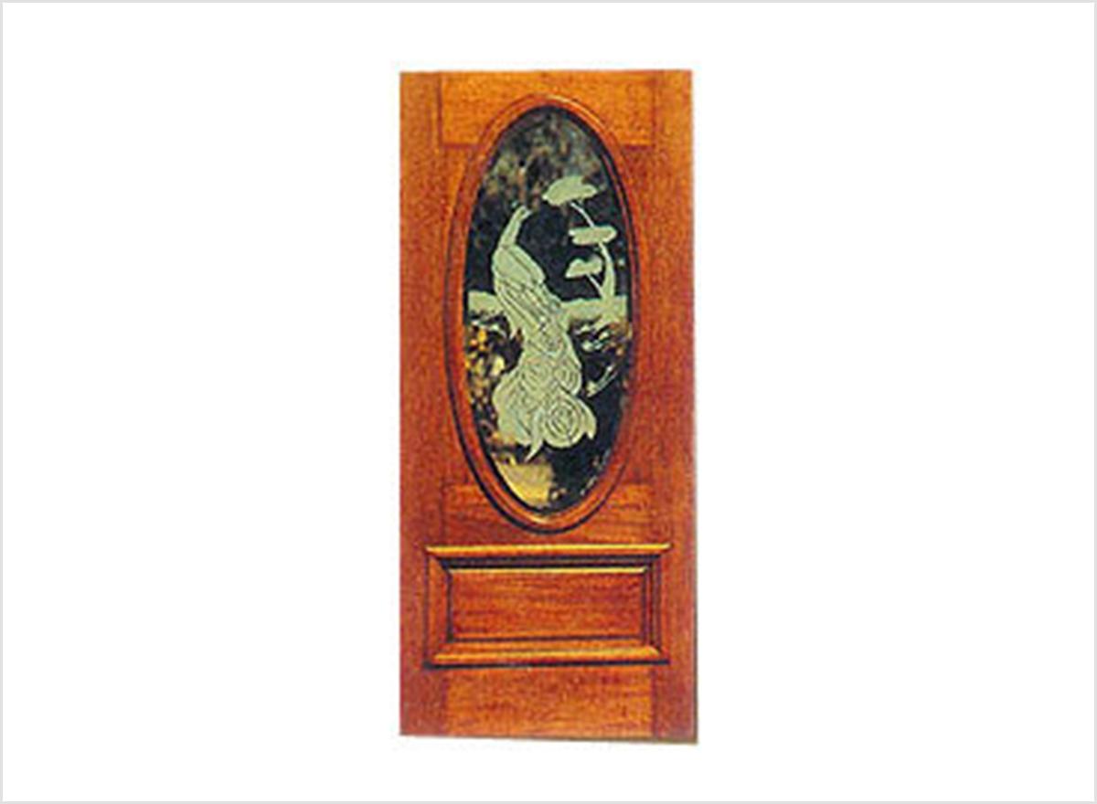 Carved Glass Doors OP-017 By O.P. Doors