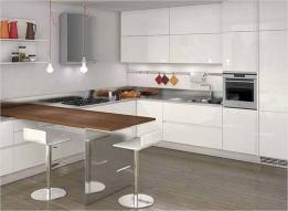 Straight Kitchen by Divas Steel Kitchen