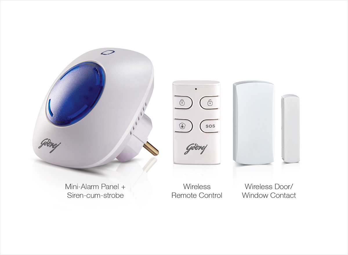 Eagle-I Lite Plug & Play Alarm Security System By Godrej