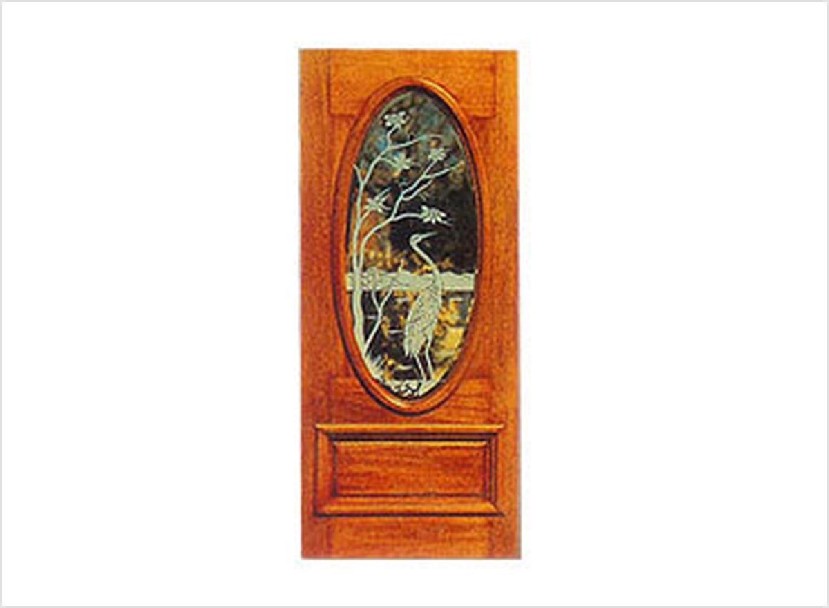 Glass Wood Doors OP-018 By O.P. Doors