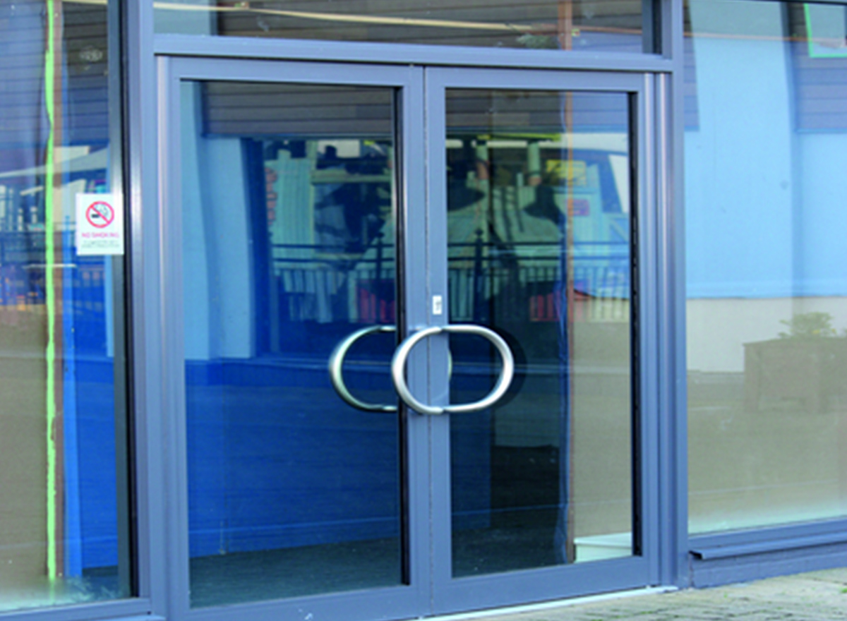 Aluminium Casement Door K-1101 (Opt. B) Series by Kalco Alu-Systems