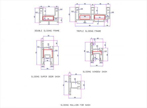 Upvc Sliding Window Profile By Ncl Alltek & Seccolor Ltd | WFM