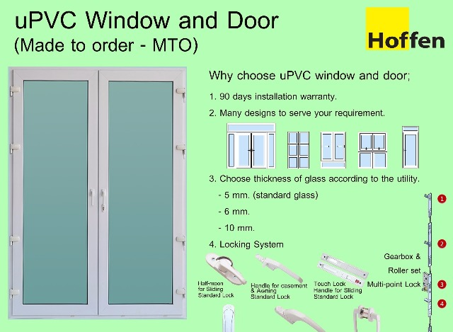 Hoffen Upvc / Made To Order  3,750 by Hoffen