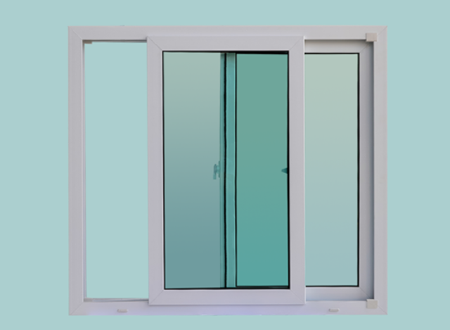 Sliding Windows uPVC DIY 100*110 cm by Hoffen