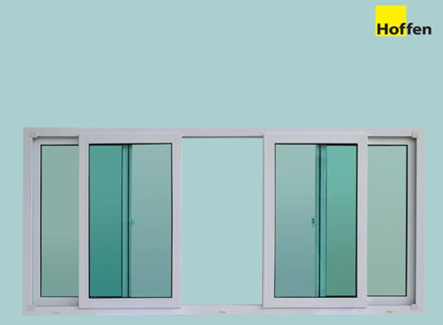 Sliding Windows uPVC DIY 240*110 cm by Hoffen